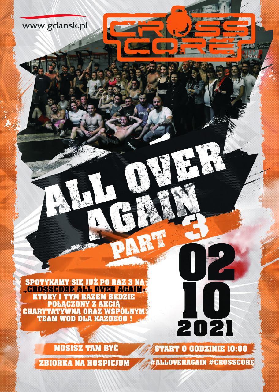 plakat promujący zawody CrossCore all Over Again 2 paździenika 2021 rok