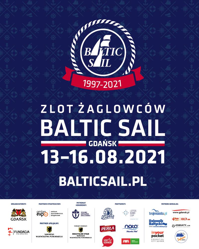Plakat promujący zlot żaglowców Baltic Sail