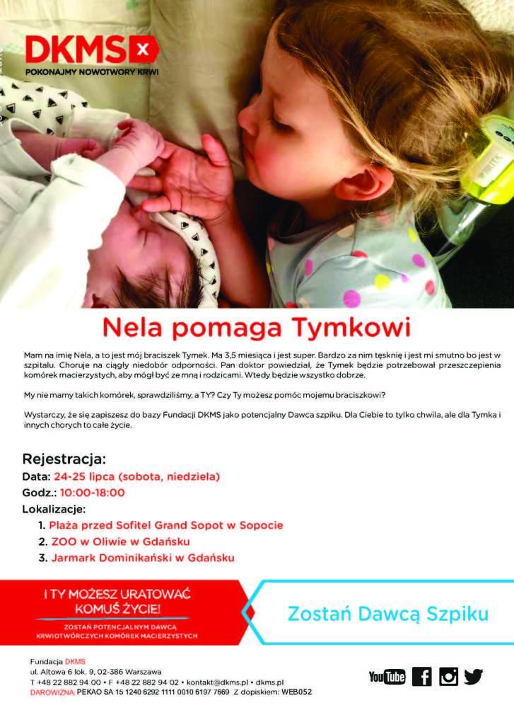 Plakat promujący akcję DKMS