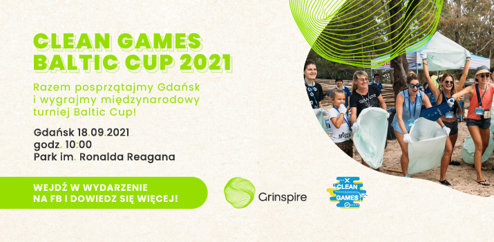 baner promujący clean games baltic cup