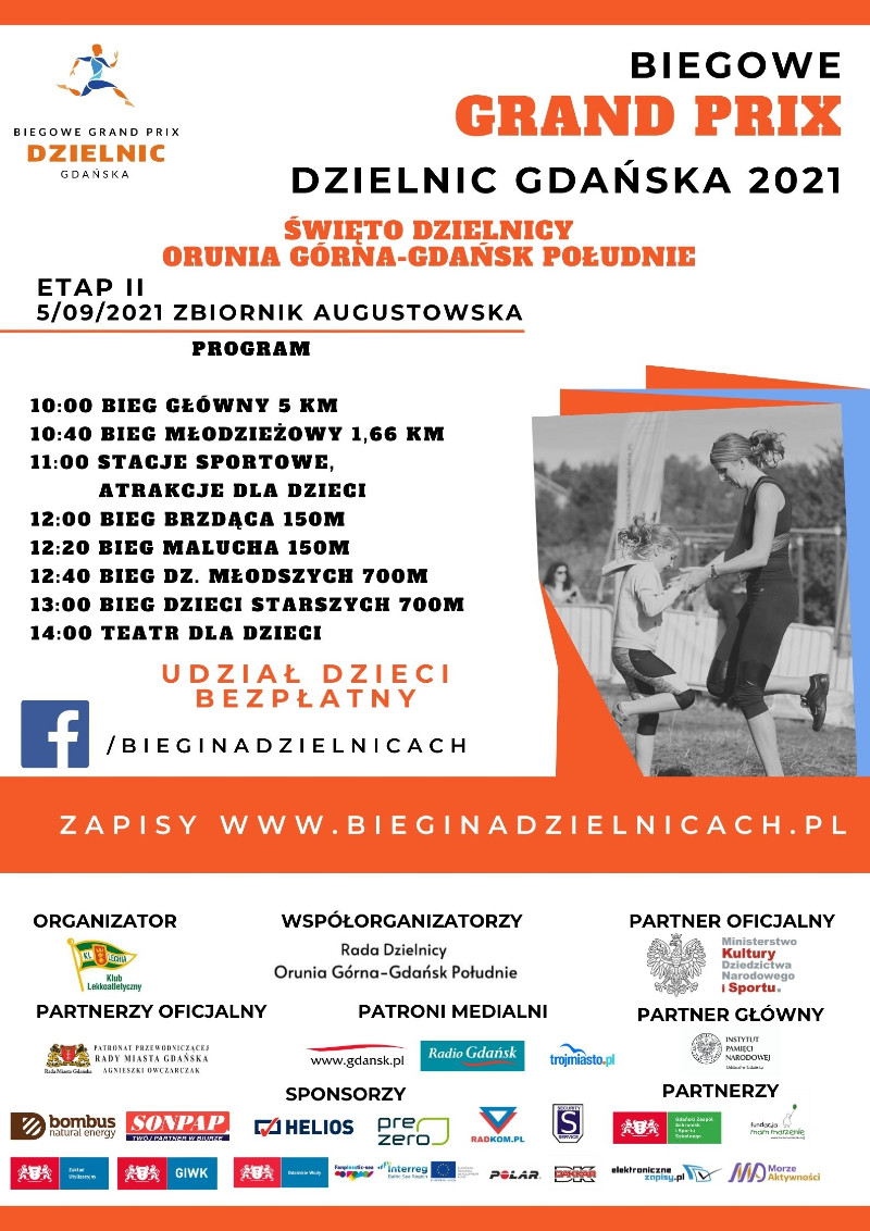 Plakat promujący GP Orunia Górna Gdańsk Południe