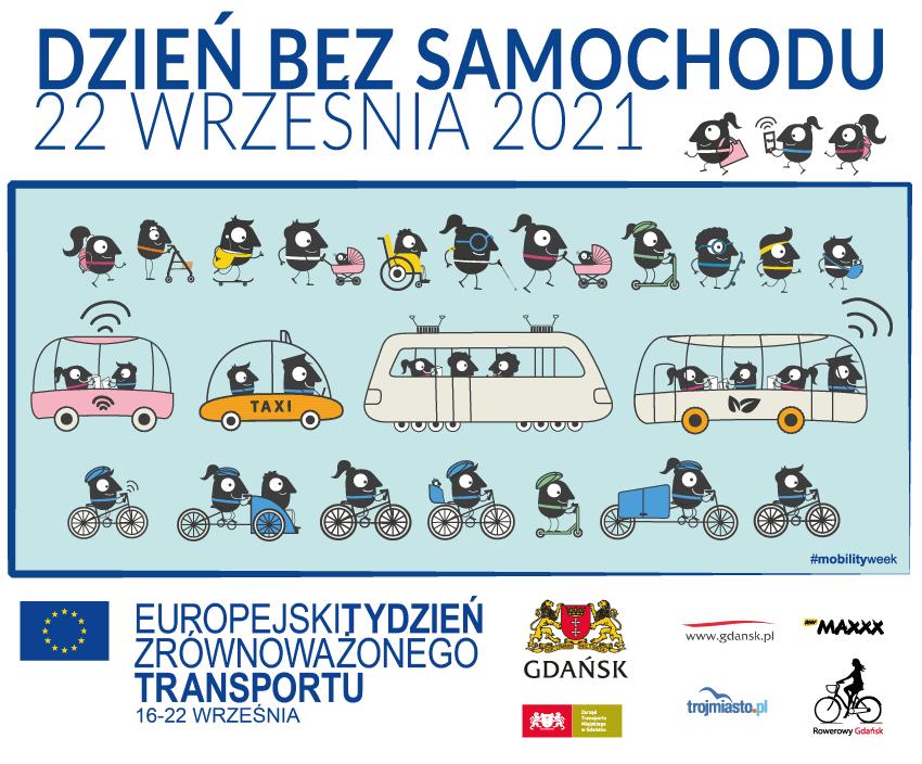 baner promujący dzień bez samochodu 22 września 2021 rok